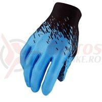 Manusi cu degete Supacaz SupaG - negru/albastru neon