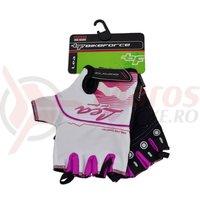 Manusi dama BikeForce Lea alb/pink