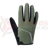 Manusi Shimano Original Long finger dark green