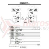 Masca pt. capac maneta de schimbator dreapta Shimano SL-M6000