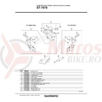 Mecanism intern Shimano ST-7970 stanga