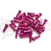 Niplu spita BTS al 14G 12mm C-N roz 100 buc