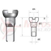 Nipluri Sapim Polyax Brass 14G 12 mm placate nichel 100 buc