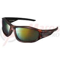 Ochelari Shimano CE-S42X frame cristal brown/black lences smoke orange mirror hydrophobic anti fog