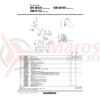 Pad spacer Shimano BR-M445