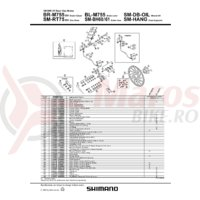 Pad spacer Shimano BR-M755