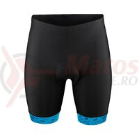Pantaloni Force B20 cu insertie gel negru/albastru