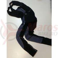 Pantaloni Shimano performance Premium WFG cu bretele cu bazon negru/gri
