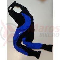 Pantaloni Shimano performance premium WFG cu bretele fara bazon negru/albastru