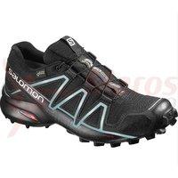 Pantofi alergare Salomon Speedcross 4 Gore-Tex bk/bk/metallic femei