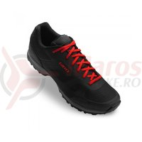 Pantofi ciclism Giro Gauge black bright red