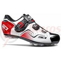 Pantofi ciclism MTB Sidi Cape alb/negru/rosu