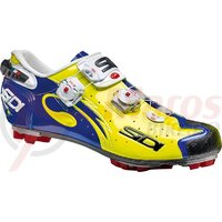 Pantofi ciclism MTB Sidi Drako Carbon SRS Vernice galben/albastru