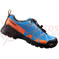 Pantofi ciclism Shimano MTB-Touring SH-MT54B Blue/Orange
