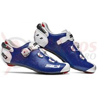 Pantofi ciclism sosea Sidi Wire 2 Carbon albastru/alb