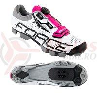 Pantofi MTB Crystal Dama alb-roz
