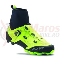 Pantofi MTB Northwave Raptor Arctic GTX iarna galben fluo/negru