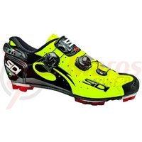 Pantofi MTB Sidi Drako Carbon galben fluo/alb