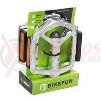 Pedale Bikefun Jump aluminiu gri