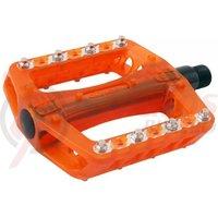 Pedale plastic MTB/Bmx Wellgo B108RP portocaliu transparent