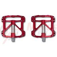Pedale RFR flat SLT rosu/gri