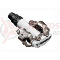 Pedale Shimano PD-M520W SPD cu placute, alb