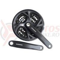 Pedalier Shimano FCM371 L 44*32*22T 175mm 9v negru cu protectie