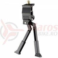 Picior sprijin Ostand CD-130A, dublu/pliabil, prindere mijloc pentru biciclete 24