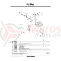Pin & distantier Shimano PD-MX80 9 buc.