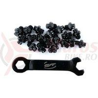 Pini pedale CONTEC R-pins Select- negru 20buc - incl. cheie