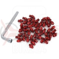 Pini pedale Funn Street M4x4mm plus cheie pentru montare 50 bucati rosii