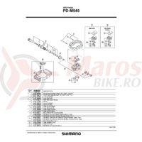 Pini pedale PD-MX30 Shimano marimea  (L) 10 buc #41K 9802