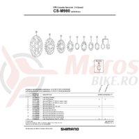 Pinioane Shimano 19-21T pentru CS-M980