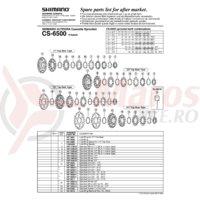 Pinioane Shimano CS-6500 21-24-27T