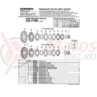 Pinion Shimano CS-7700 19-21T