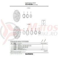 Pinion Shimano CS-HG30-9 11t (tip cu distantier pe pinion) pt. ar