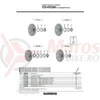 Pinion Shimano CS-HG300-9 11t (tip cu distantier pe pinion) pt. au