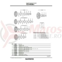 Pinion Shimano CS-HG50-9 11t (tip cu distantier pe pinion)