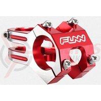 Pipa Funn Funnduro DJ 31,8mm L45mm rosu anodizat cu laterale arginti