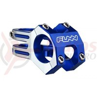 Pipa Funn Funnduro DJ Full CNC 31,8x0mm H:30mm albastru anodizat cu laterale argintii