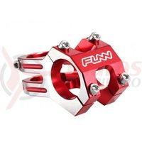 Pipa Funn Funnduro DJ Full CNC 31,8x60mm H:30mm rosu anodizat cu laterale argintii