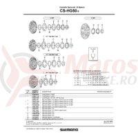 Piulita de strangere Shimano pentru CS-HG50-9