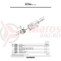 Piulita infundata Shimano HB-IM40 M9