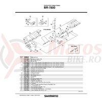 Piulita ingropata (pivot nut) Shimano BR-7800 27.0mm pentru frana fata