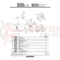 Piulita Shimano BR-M395 connecting bolt