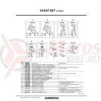Placa din talpa pentru placute de pedale Shimano SH-R215