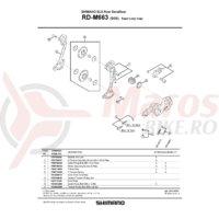 Placa exterioara Shimano pentru RD-M663-SGS