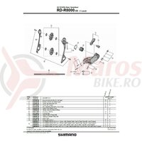 Placa exterioara & surub fixare Shimano RD-R8000-SS