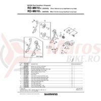 Placa interioara Shimano RD-M610-GS