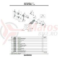 Placa interioara Shimano RD-M7000-11-GS